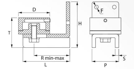 Balama inferioara pe rulment FAAC 456.2