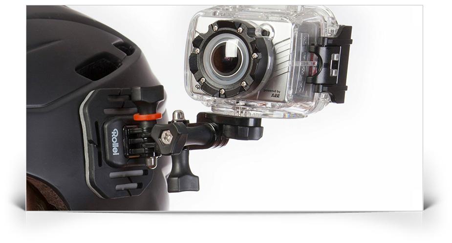 Kit montare camera de sportivi pe casca Rollei KIT-HELMET-RLL