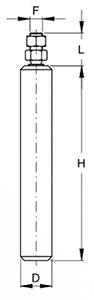 Rola lunga teflon FAAC 118.4