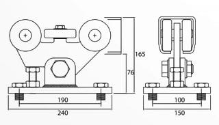 Sistem cu 5 role pentru portile autoportante Roger Technology 301.5M