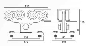 Sistem cu 5 role pentru portile autoportante Roger Technology 301.8M