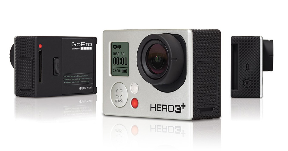 Camera video pentru sportivi GoPro HERO3+ Black Edition Adventure