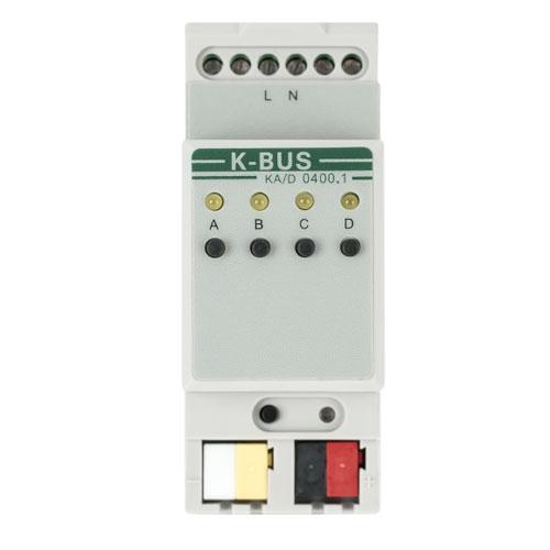Actuator Dimming Master KA/D0400.1, 4 canale, 21-30 Vcc, 15 scenarii