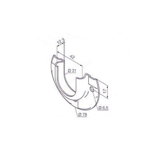 Adaptor octogonal pentru bariere Nice 503.04000R01 imagine spy-shop.ro 2021