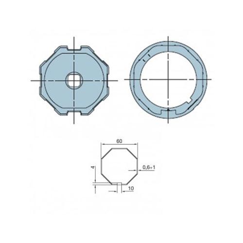 Adaptor octogonal pentru motor tubular Nice 505.06000 imagine spy-shop.ro 2021