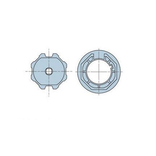 Adaptor octogonal pentru motor tubular Nice 505.07 imagine spy-shop.ro 2021