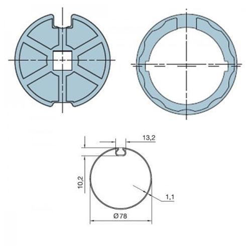 Adaptor pentru motor tubular Nice 506.17800 imagine spy-shop.ro 2021