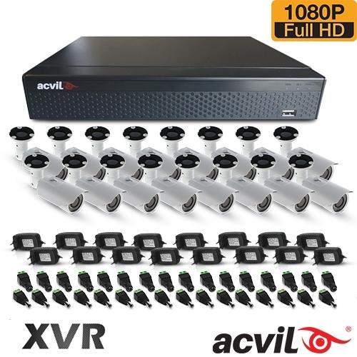 SISTEM SUPRAVEGHERE EXTERIOR AHD CU 16 CAMERE VIDEO ACVIL AHD-16EXT60-1080P
