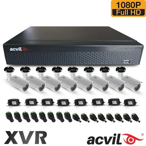 SISTEM SUPRAVEGHERE EXTERIOR AHD CU 8 CAMERE VIDEO ACVIL AHD-8EXT40-1080P
