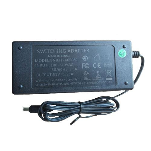 Sursa de alimentare switch-uri Hikvision BN031-A65051, 51 V, 1,25 A imagine spy-shop.ro 2021