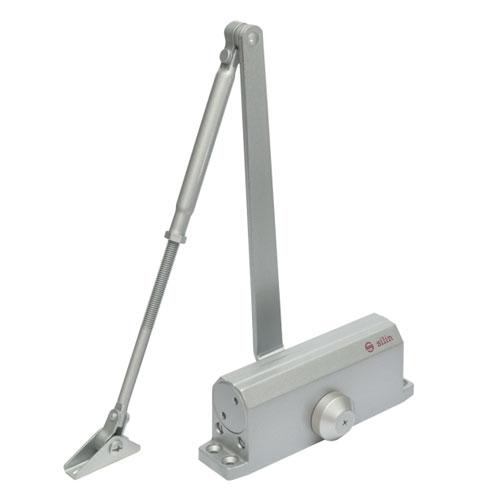 Amortizor hidraulic cu brat pentru usa SA-6033AW-sv, 40-65 Kg, argintiu, cu blocare