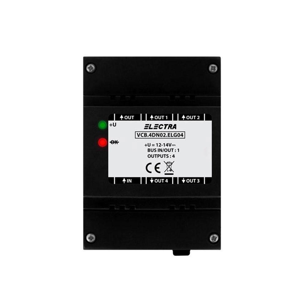 Amplificator video Electra DVA.4PS02.ELG04, 4 iesiri, 4 fire