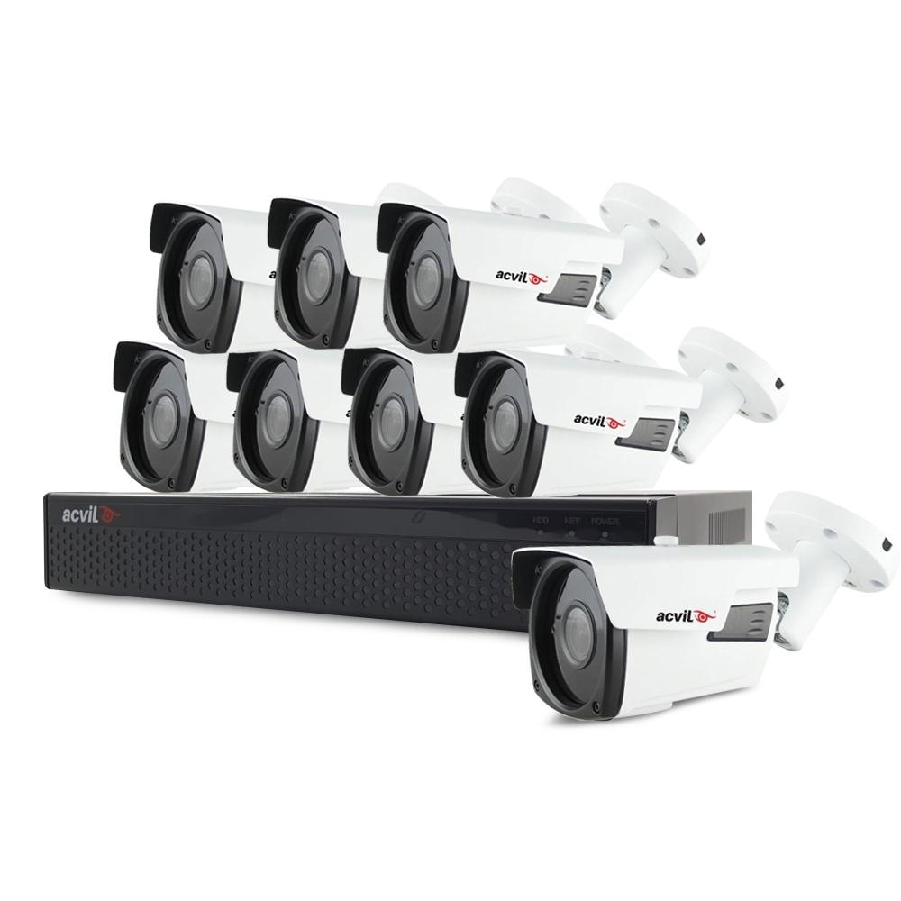 Sistem supraveghere exterior basic Acvil B8EXT40-5MP, 8 camere, 5 MP, IR 40 m