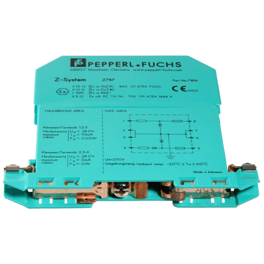Bariera de protectie cu dioda Zener Hochiki CDX IS&EXD Z 787, 2 canale, 93 mA, sina DIN