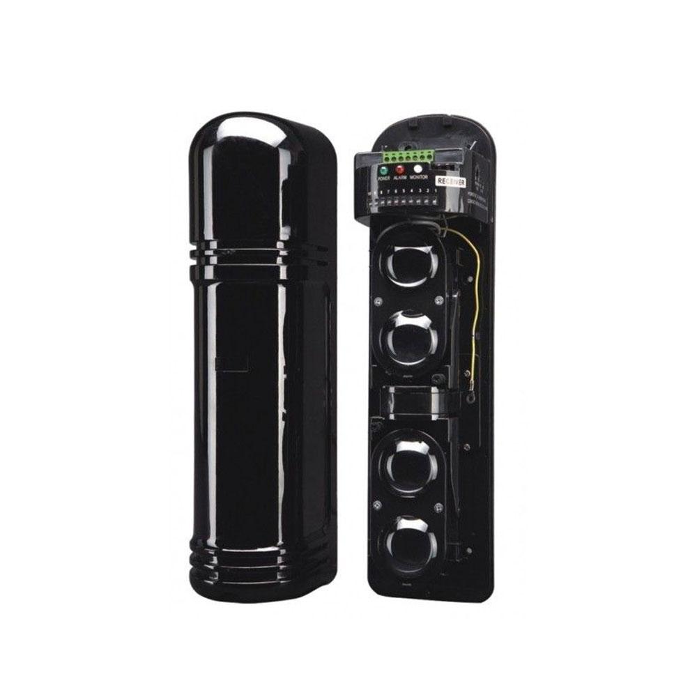 Bariera fotoelectrica pentru exterior ABH-250L, impulsuri IR, 250 m, 4 fascicole