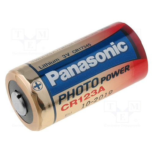 BATERIE LITHIUM DE 3V PANASONIC BAT-CR123A