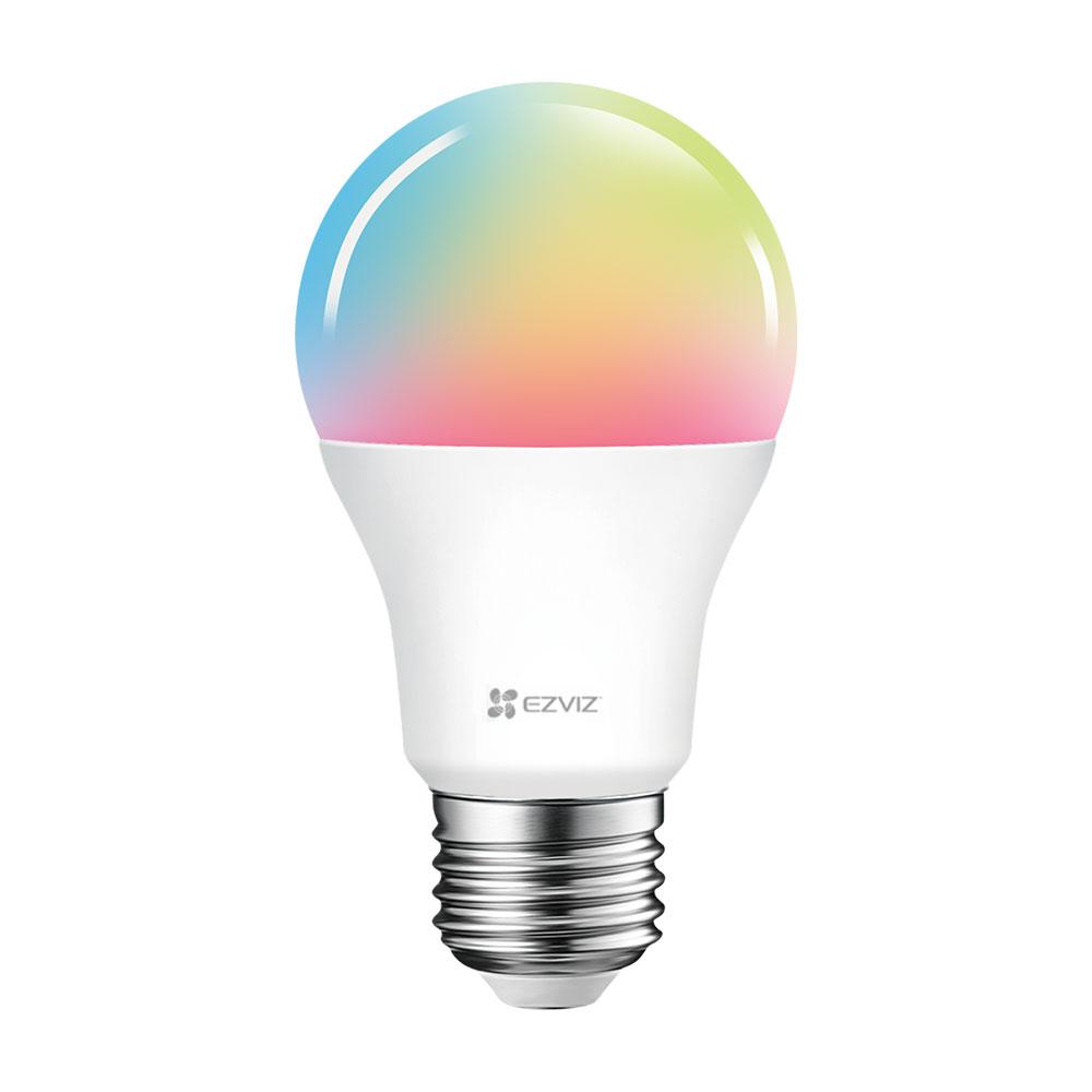 Bec smart multicolor LED WiFi EZVIZ CS-HAL-LB1-LCAW, 2.4 GHz, 806 lm, 8 W, control de pe telefon