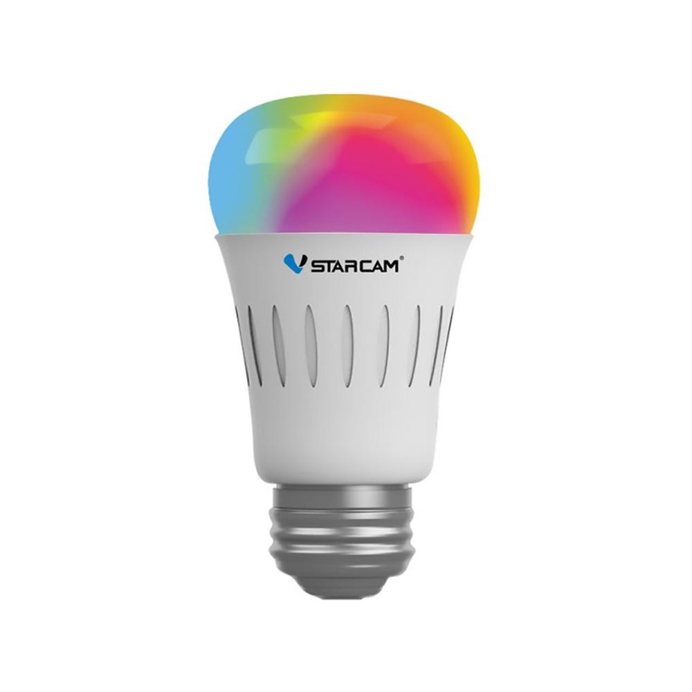 Bec smart multicolor LED WiFi Vstarcam WF820, 6W, control de pe telefon, 16 milioane culori, E27