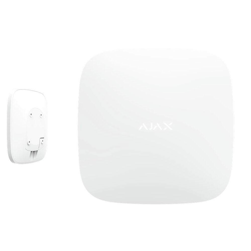 Unitate centrala AJAX Hub WH/BL, 9 partitii, 100 dispozitive, 2000 m