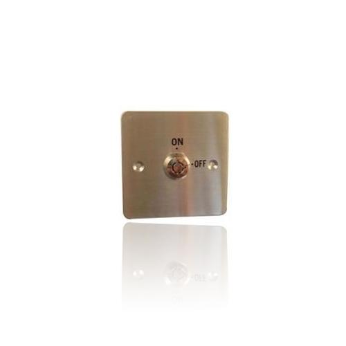 Buton cerere iesire cu cheie GEovision PBKS1, aluminiu imagine spy-shop.ro 2021