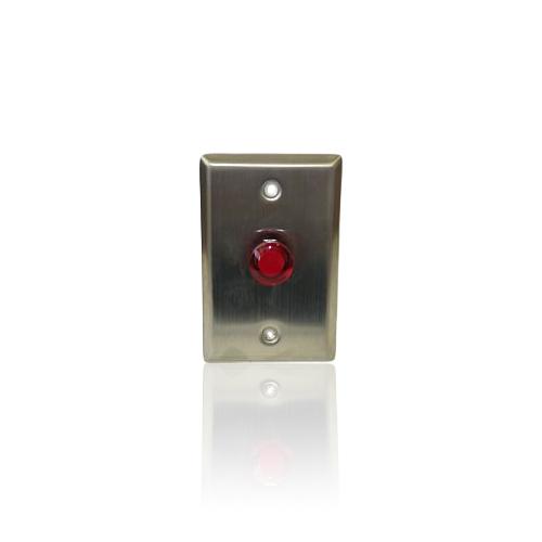 Buton cerere iesire GEovision PB20, aluminiu imagine spy-shop.ro 2021