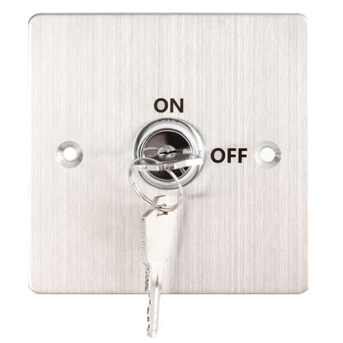 Buton de iesire cu cheie KY-B-SS-2, ingropat/aparent, otel inoxidabil