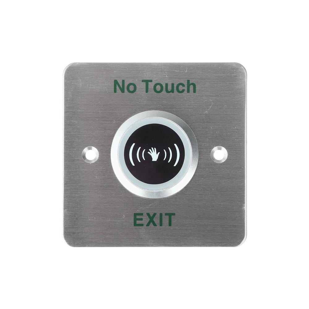 Buton de iesire fara atingere Hikvision DS-K7P03, ingropat, otel inoxidabil