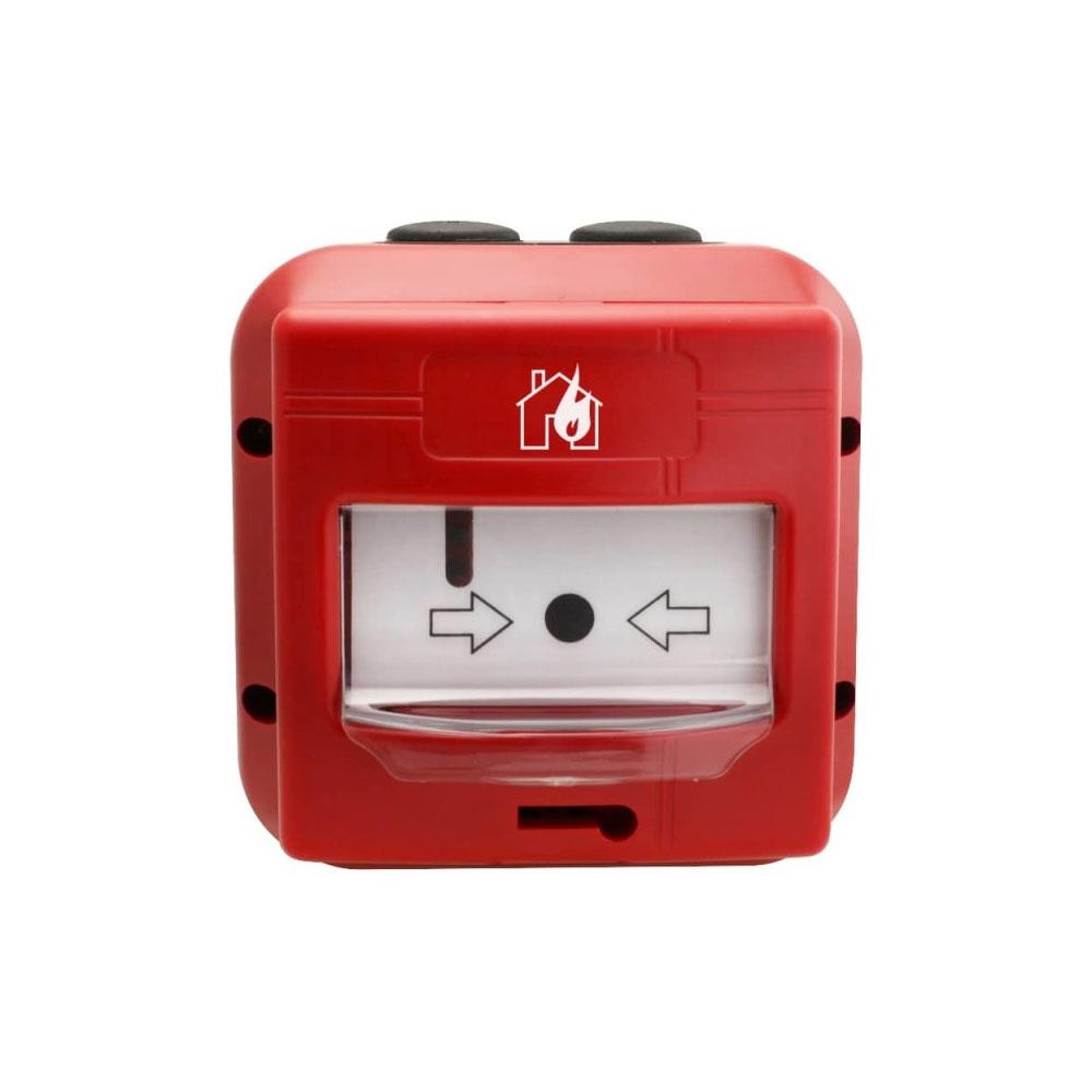 Buton de incendiu analog-adresabil de exterior Global Fire GFE-MCPE-AI-IP67, LED, izolator bucla