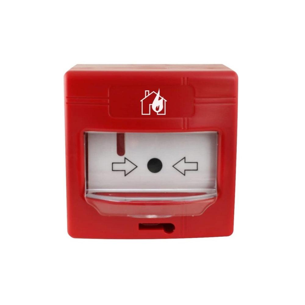 Buton de incendiu analog-adresabil de interior Global Fire GFE-MCPE-A, LED, aparent/ingropat