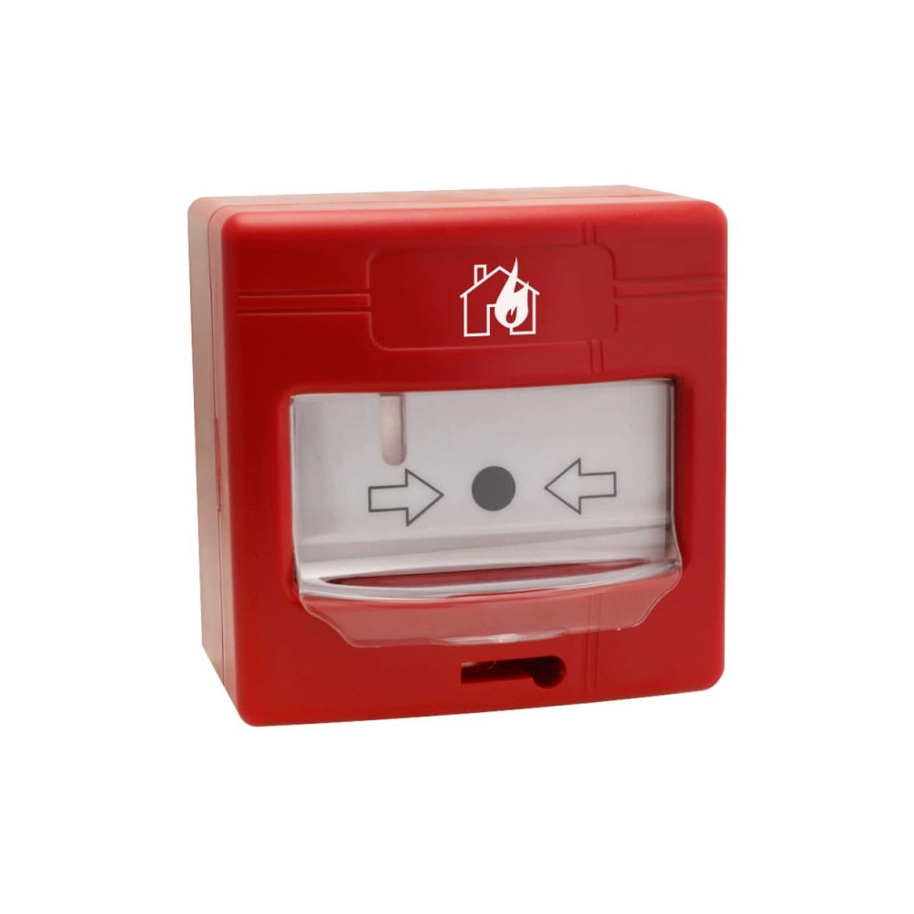 Buton de incendiu analog-adresabil de interior Global Fire GFE-MCPE-AI, LED, aparent/ingropat, izolator bucla imagine