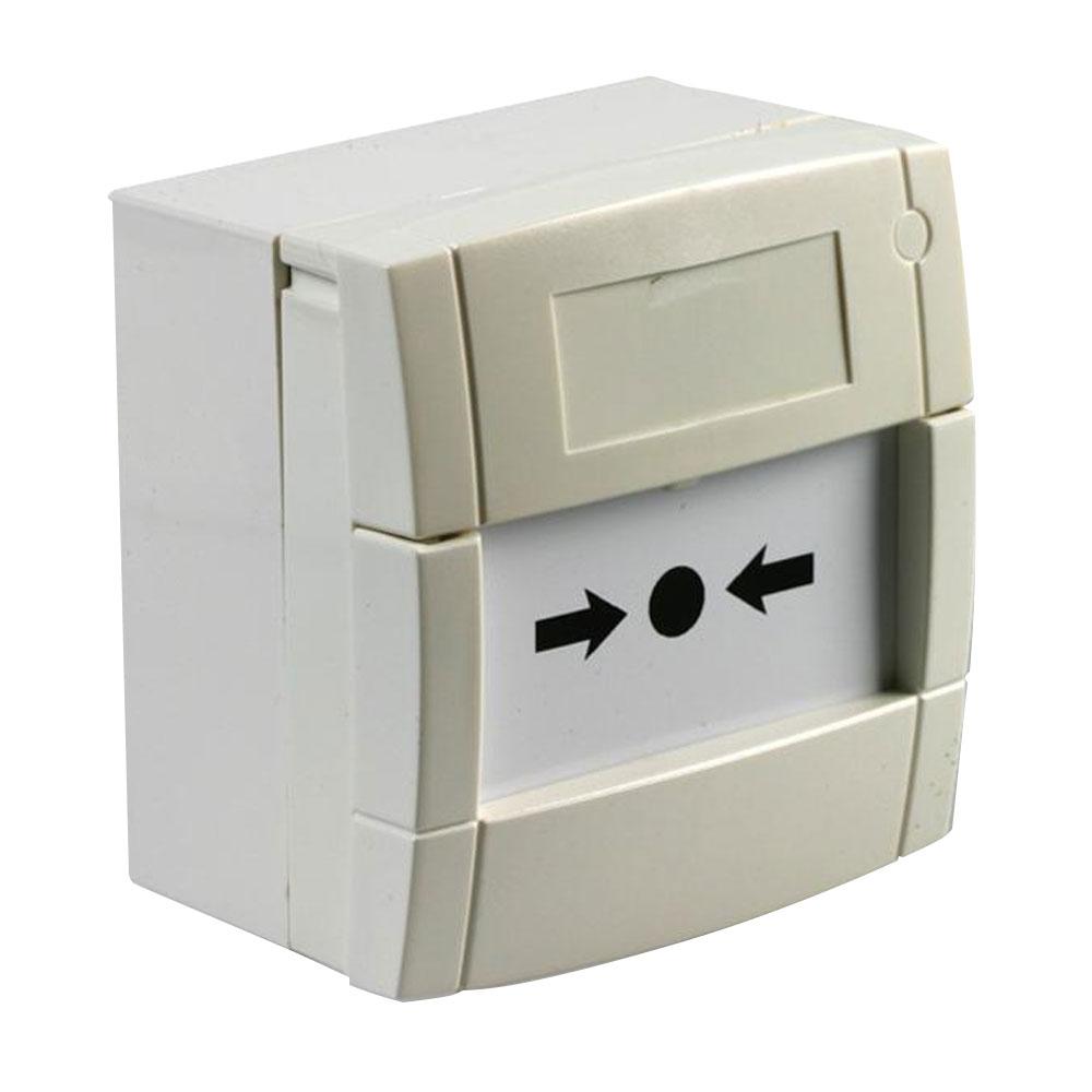 Buton de incendiu cu geam KAC MCP3A-W000SG-STCK-12, NO/NC, aparent, alb imagine spy-shop.ro 2021