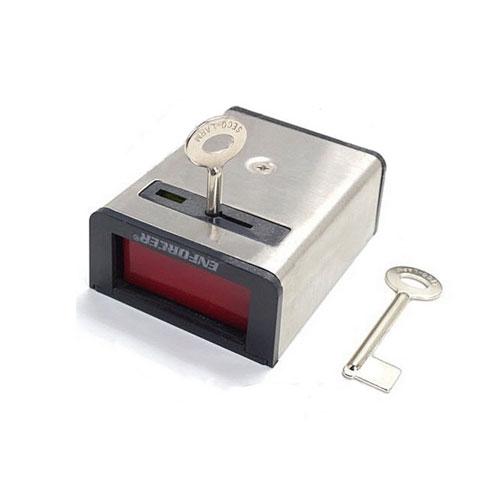 Buton de panica cu memorie mecanica Seco-Larm SS077, 2 chei, SPST, otel inoxidabil imagine spy-shop.ro 2021