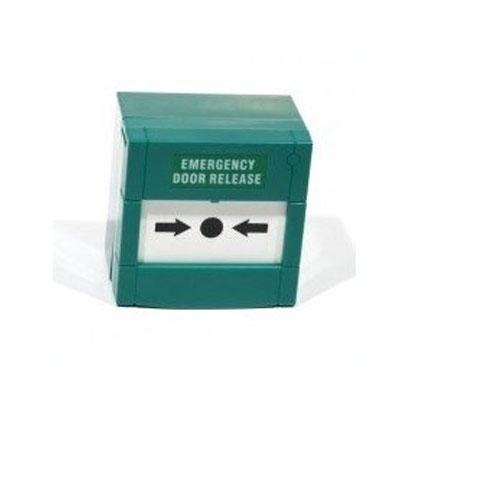 Buton iesire de urgenta Headen BF-01, PVC, aparent, verde