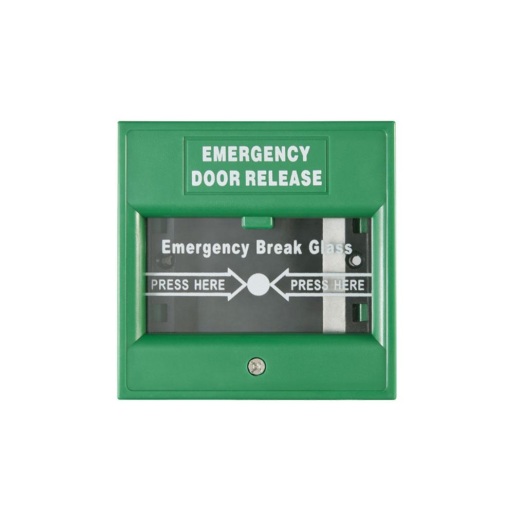 Buton iesire de urgenta Hikvision DS-K7PEB(GREEN), aparent, verde