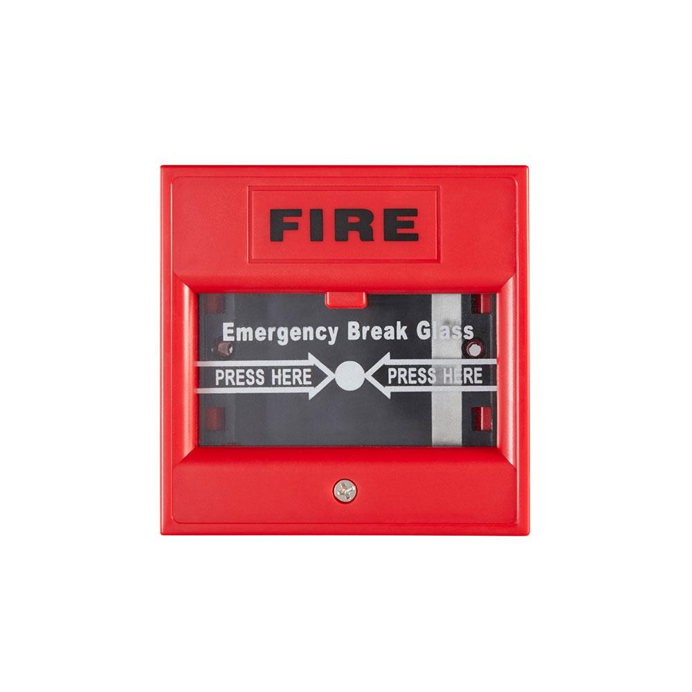 Buton iesire de urgenta Hikvision DS-K7PEB(RED), aparent, rosu