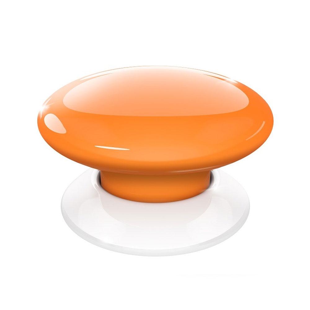 Buton wireless smart home portocaliu FIBARO fgpb-101-8 zw5, Z-Wave, RF 50 m, 868.4 MHz / 869.8 MHz