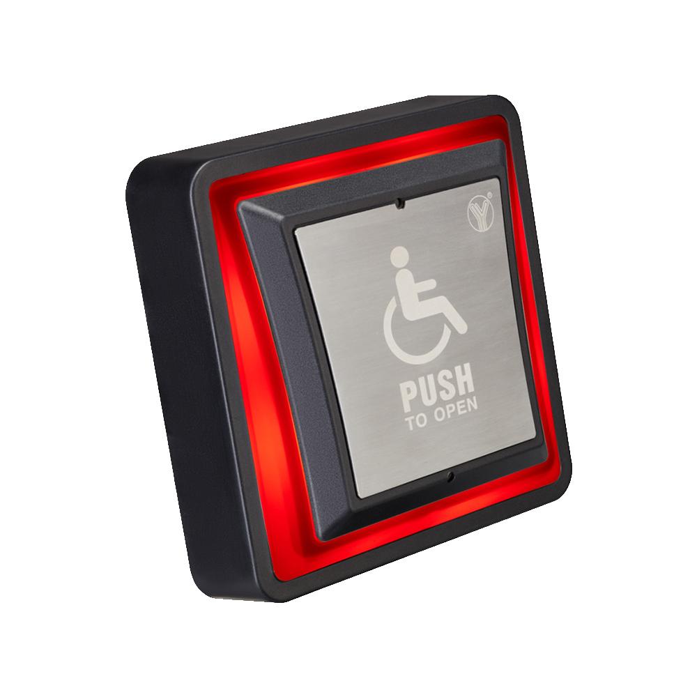 Buton cerere iesire PBK-871(LED, pentru persoane cu dizabilitati, NO-COM-NC, 0.35 kg