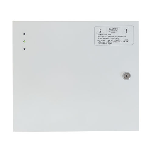 Cabinet multifunctional pentru centrala de control acces CAB3-PS5-wh, 12 Vcc, 5 A, metal