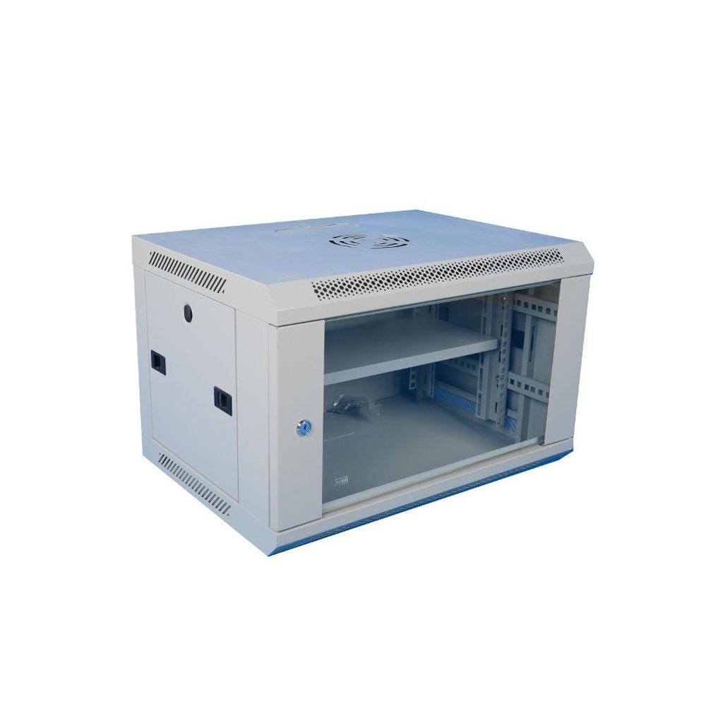 Cabinet rack metalic 19 inch WMF12U-600, geam securizat, greutate sustinuta 60 kg, 12U imagine spy-shop.ro 2021