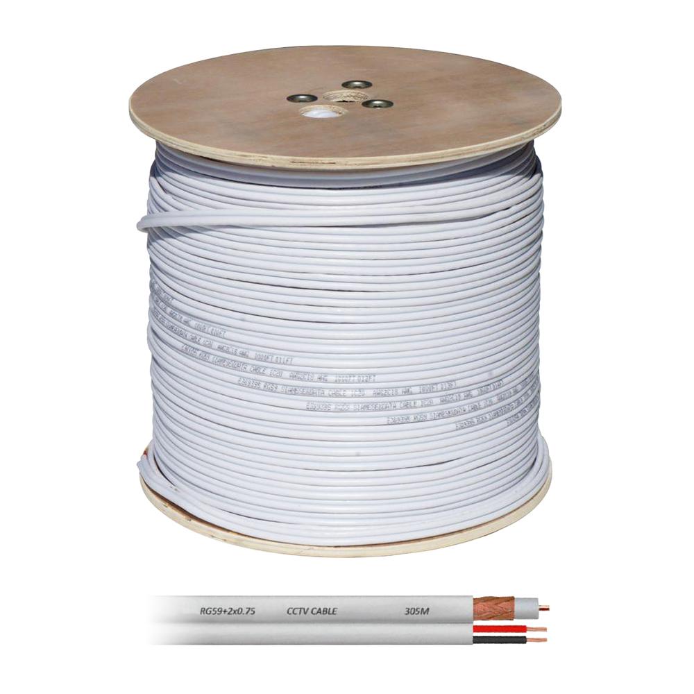 Cablu coaxial RG 59 + Alimentare 2x0.75, cupru, rola 305 m imagine spy-shop.ro 2021