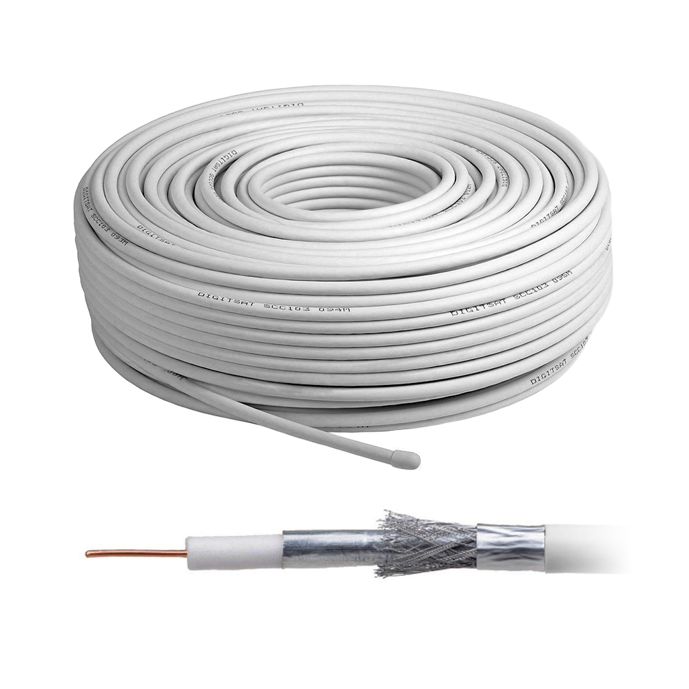 Cablu coaxial RG 6, cupru, diametru 6.8 mm, rola 100 m imagine spy-shop.ro 2021