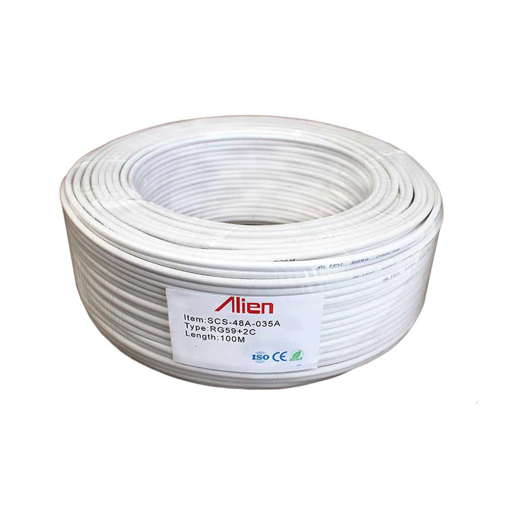 Cablu coaxial RG59 + alimentare 2 x 0.35 mm2 CCS, cupru, rola 100 m imagine spy-shop.ro 2021
