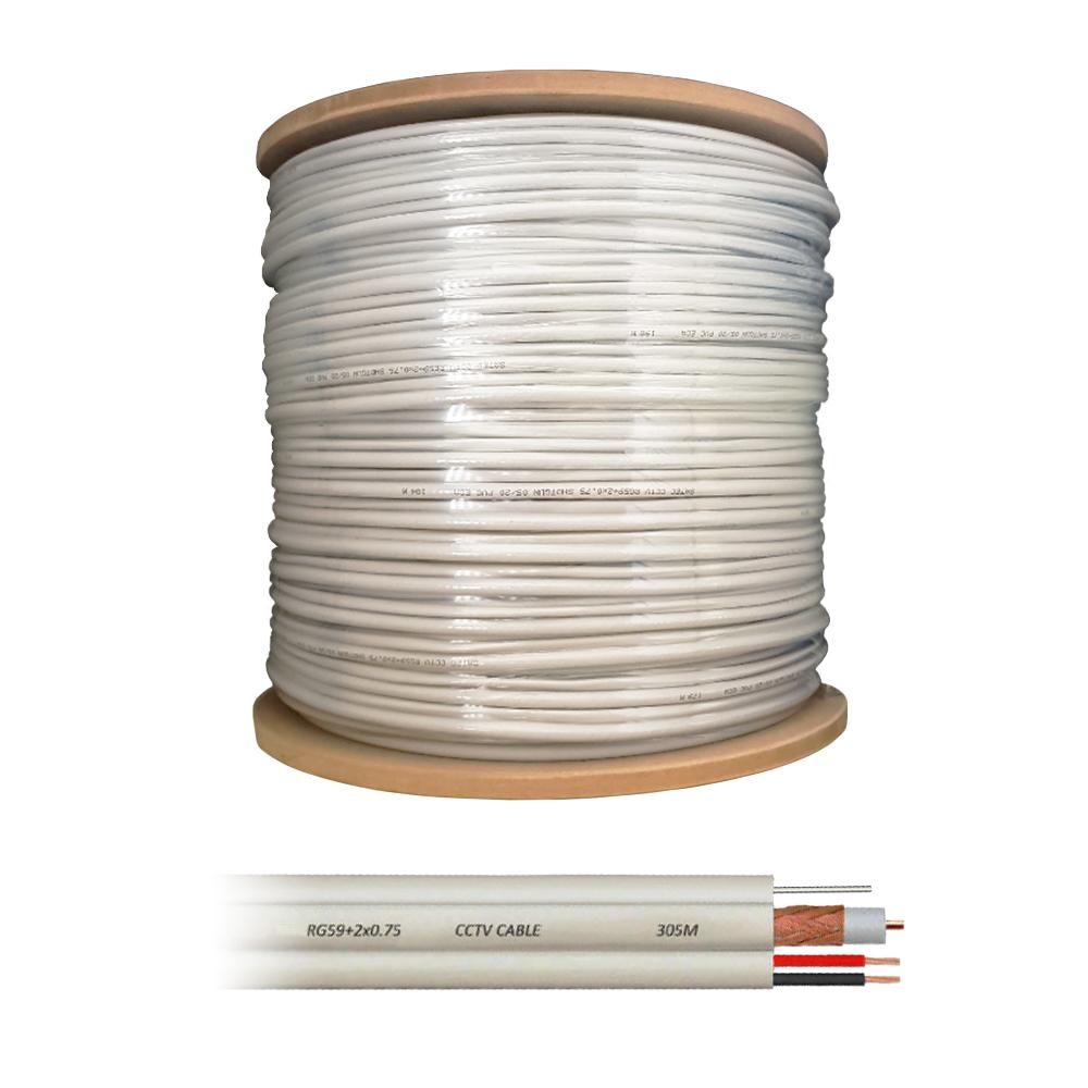 Cablu coaxial RG59 + alimentare 2 x 0.75 cu sufa, cupru, pret / rola 305 m imagine spy-shop.ro 2021