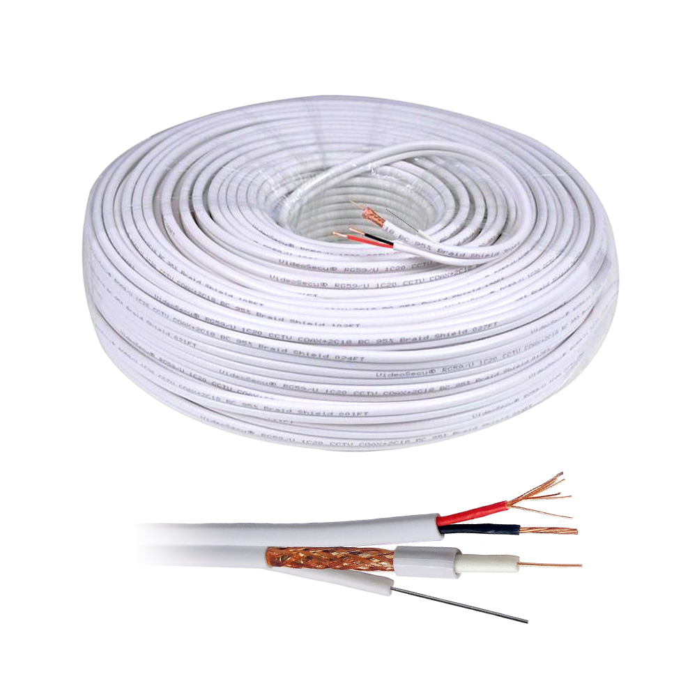 Cablu coaxial RG59 + Alimentare 2x0.75 cu sufa, cupru, rola 100 m imagine spy-shop.ro 2021