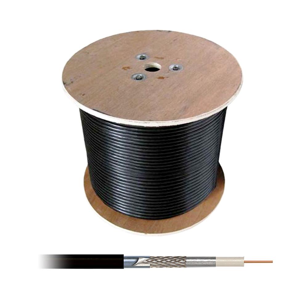 Cablu coaxial RG6 triplu ecranat autoportant cu sufa, cupru, rola 305 m imagine spy-shop.ro 2021