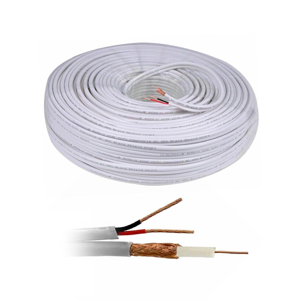 Cablu coaxial siamez RG 59 + Alimentare 2x0.75 (100 m), cupru, gri imagine spy-shop.ro 2021