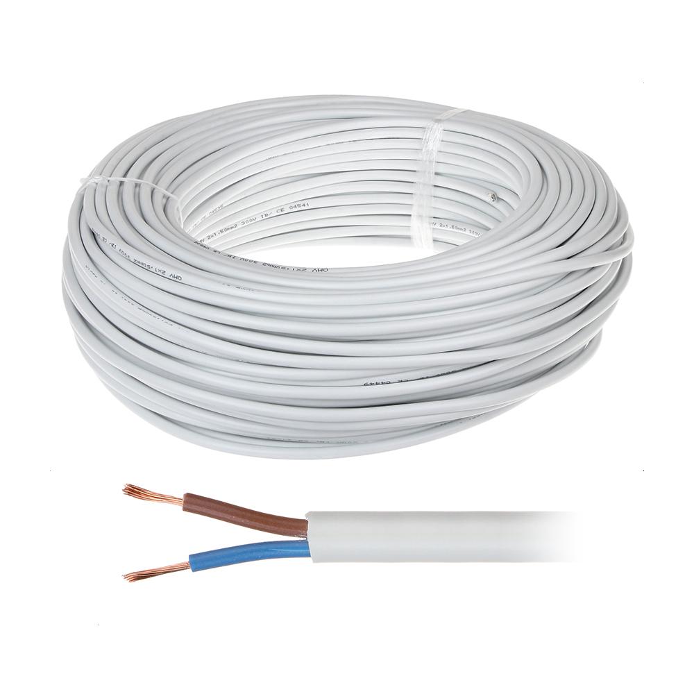 Cablu de alimentare MYYM 2*1 (100M), rotund bifilar litat imagine spy-shop.ro 2021