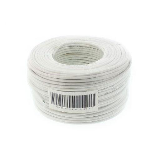 Cablu ecranat de alarma Ceam Cavi 4AF22, 4x0.22 mm, rola 100 m