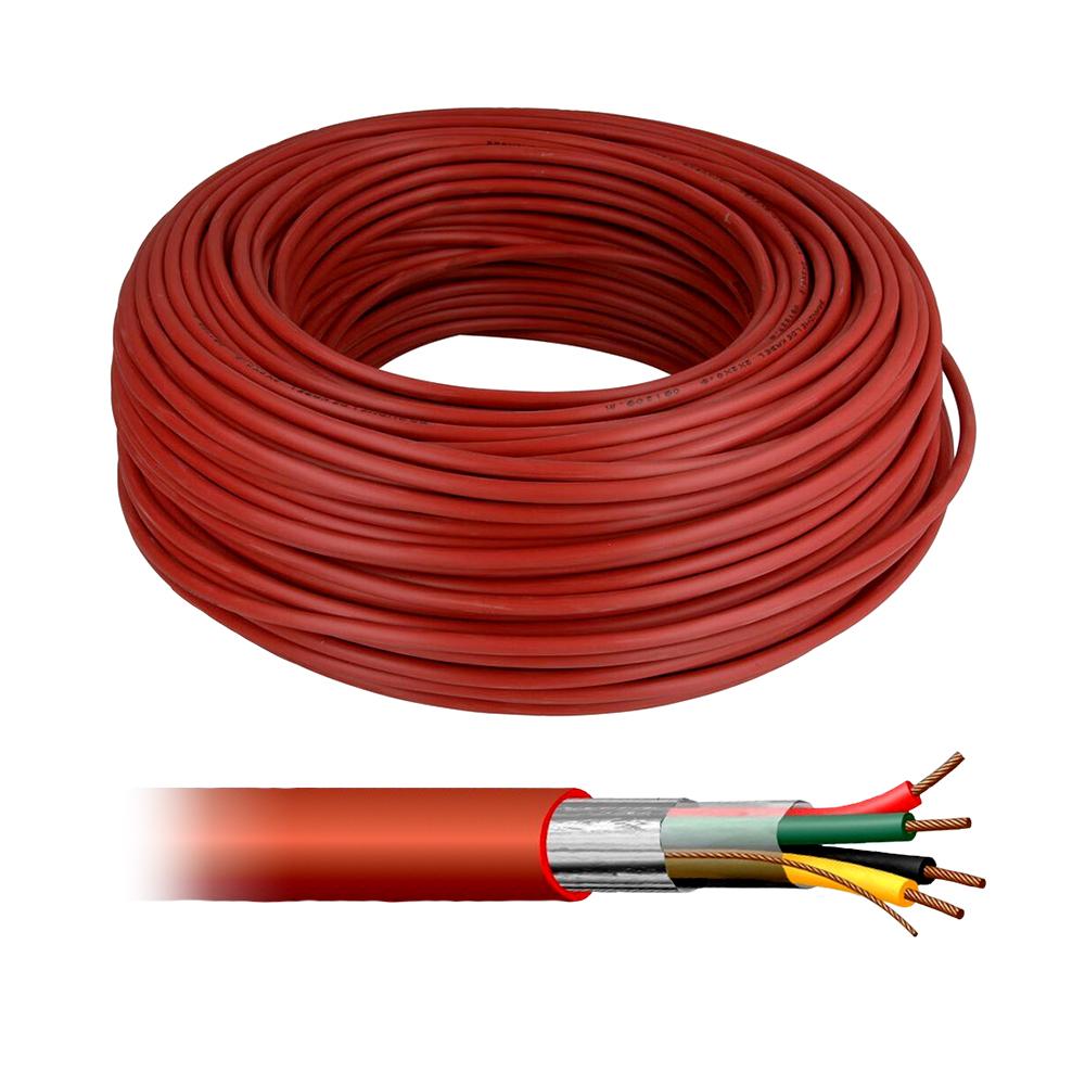 Cablu ecranat de incendiu halogen FREE Fender HF4X8/10, PVC, rola 100 m imagine spy-shop.ro 2021