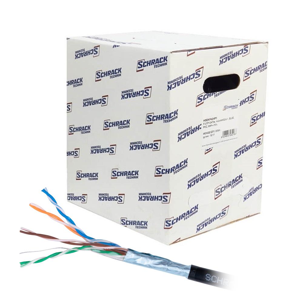 Cablu F/UTP CAT.5E Schrack HSEKF424E3, 4x2xAWG24/1, PE (exterior), 305 m